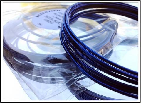 Värillinen alumiinilanka Ø 1,5 mm, 3 metriä, royal sininen (Royal blue)