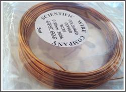 Värillinen kuparilanka Ø 0,9 mm, 5 metriä, vaalea kulta