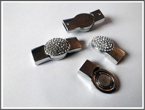 Magneettilukko 10 x 4 mm, kristalli
