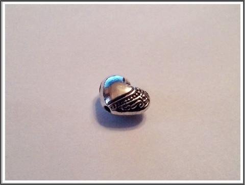 Metallihelmi 10 x 7 mm, sydän, 5 kpl