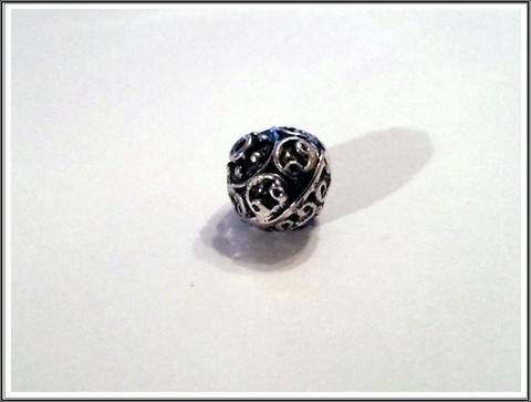 Metallihelmi 13 mm, antiikkihopean värinen, kpl