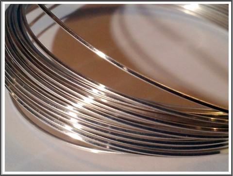 Hopeoitu kuparilanka 0,8 x 0,8 mm, neliö, 6 metriä, tummumaton