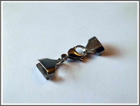 Nauhanpäät 10 mm + papukaijalukko, ruostumaton teräs