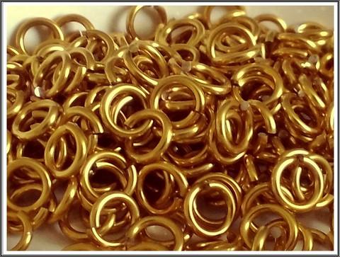 Rengas Ø 5 mm, lanka 0.8 mm, 50 kpl, kulta