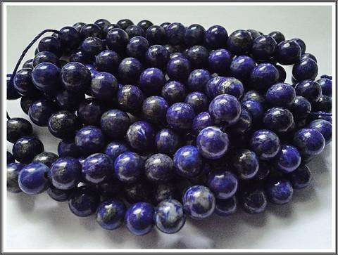 Lapis Lazuli, pyöreä Ø 6 mm, ½ nauha