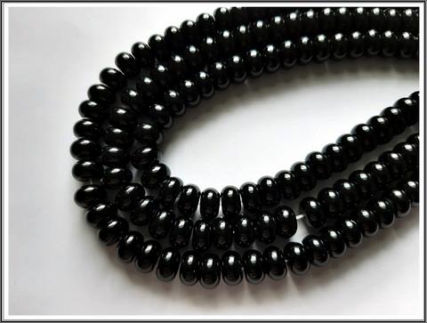 Onyx A, rondelli 8 x 5 mm, ½ nauha