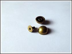 Niitti 11 mm, ruuvikiinnitys, antiikkipronssin väri, 5 kpl