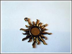 Korupohja Ø 10 mm kapussille, antiikkikullan värinen aurinko