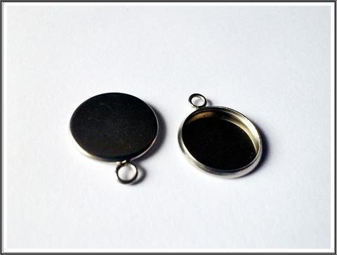 Korupohja pyöreä 14 mm kapussille, ruostumaton teräs