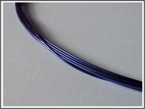 Niobiumlanka 0.6 mm, 10 cm, indigonsininen