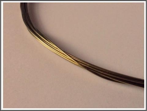 Niobiumlanka 0.6 mm, 10 cm, keltainen
