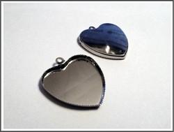 Korupohja 25 mm, sydän, teräsväri