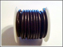 Nahkanauha Ø 3 mm, tummanruskea, metri