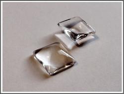 Lasikapussi, 15 mm, neliö, kirkas