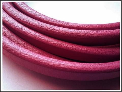 Nahkanauha Regaliz®, 10 x 7 mm, sileä, fuchsia