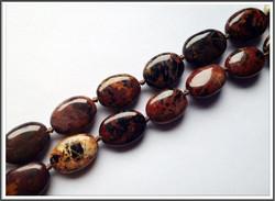 Pilbara jaspis, 12 x 18 mm, ovaali, ½ nauha