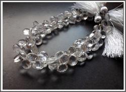 Vuorikristalli AA, 7-8 mm litteä brioletti