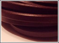 Nahkanauha Regaliz®, 10 x 7 mm, sileä, ruskea