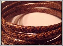 Nahkanauha Regaliz®, 10 x 7 mm, käärme, ruskea