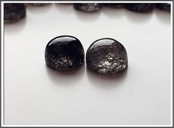 Rutiilikvartsi AA, musta, Ø 10 mm