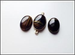 Haukansilmä, 18 x 13 mm, ovaali