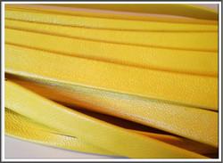 Nahkanauha 10 x 2 mm, sileä Nappa, keltainen