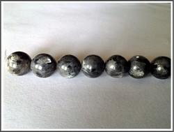 Larvikiitti, Ø 12 mm pyöreä, ½ nauha