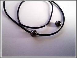 Magneettilukko  Ø 2 mm nauhalle, pyöreä, musta teräsväri