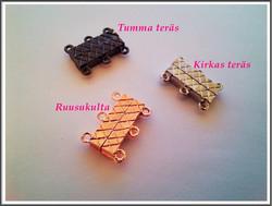 Magneettilukko 21 x 16 mm, 3-rivinen, eri värejä