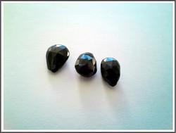 Spinelli AA, musta 12 mm fasetoitu päärynäbrioletti, kpl