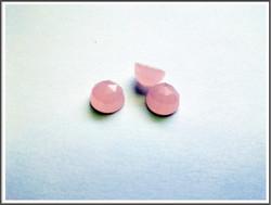 Kalsedoni AAA, Ø 8 mm kapussi, pinkki