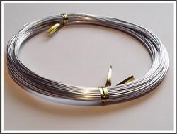 Värillinen alumiinilanka Ø 1 mm, 10 metriä, hopea
