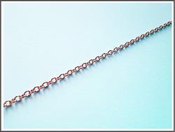 Metalliketju, lenkit 2.5 x 2 mm, ruusukulta, 0.5 m