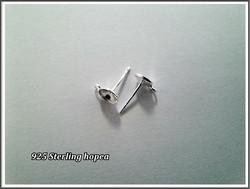 Korvistapit .925 hopeaa Ø 6 mm Rivoli-pohjalla, pari