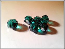 Kristallilasirondelli, 12 x 8 mm, fasetoitu, Blue Zircon, 10 kpl