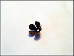 Helmihattu kukka, 8 mm, kuparinvärinen, 10 kpl