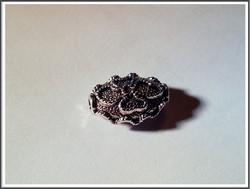 Metallihelmi 17 x 12 x 7 mm, ovaali, antiikkihopean värinen, kpl
