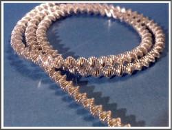 Koristeellinen spiraali kuparilanka Ø  3 mm, värisekoitus