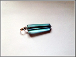 Aqua Aura, riipus 925 hopeisella pidikkeellä, uniikki