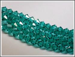 Tsekkiläinen kristallibicone 8 mm, Blue Zircon, 25 kpl nauha