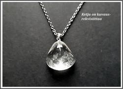 Vuorikristalli, kiviriipus .925 hopeisella pidikkeellä