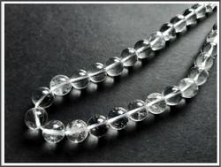 Vuorikristalli A, pyöreä Ø 10 mm, ½ nauha