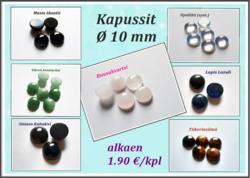 Kapussi Ø 10 mm, eri kivilajeja, alkaen 1.90 €/kpl
