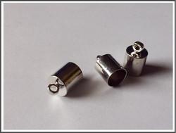 Nauhanpää 11 x 7 mm, sylinteri, teräsväri, pari