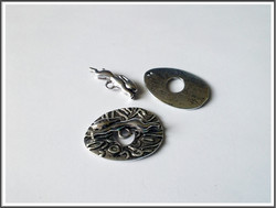 Riimulukko jänis, 29 x 22 mm, antiikkihopean värinen