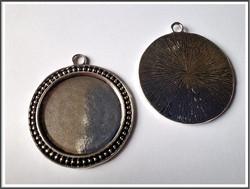 Korupohja pyöreä Ø 30 mm, antiikkihopean värinen riipus