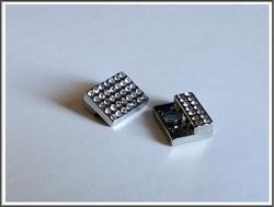 Magneettilukko 14 x 3 mm kristallein, teräsväri