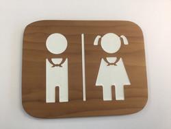 WC-kyltti - partiotyttö ja -poika