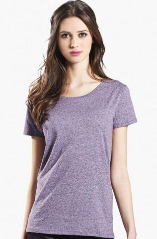 Naisten marmorikuvioitu t-paita luomupuuvillaa