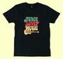 Retrohenkinen musta t-paita